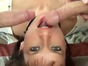 British MILF Tangos With 2 Cocks