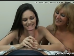 Monica and Jessica taboo family handjob