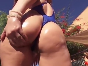 Roxy Rae gets a big black dildo up her ass and thick cock