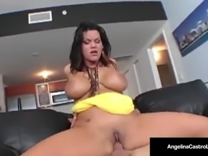 Cuban Sex Princess, Angelina Castro is Pounded By Big Cock!