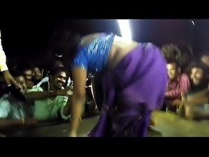 Record dance. Girl show her pussy and tits in public