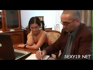 Sexy couch fucking lesson