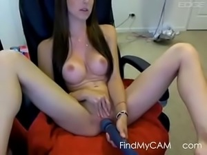 Perky Tits Webcam Girl With Hitachi