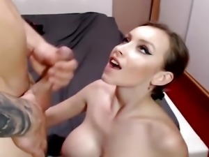 Sexy Couple Sensual Hard Fucking and Facial Cumshot